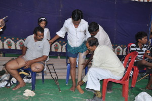 Jaipur Foot Camp enabling people to have better lives.