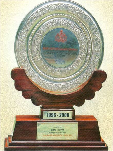 Excellence award in exports-2000